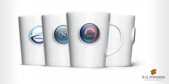 Mahlwerck Domingtasse, Becher, Kaffeebecher, 4c Druck