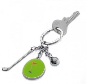 Schlüsselanhänger Golf Golfball Golfschläger